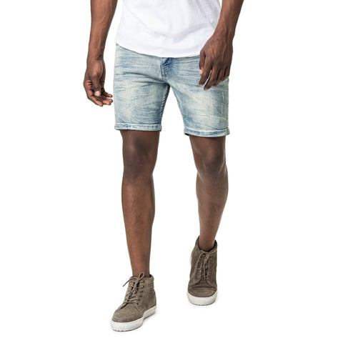 Denim-Skinny-Light-Bleach-Blue-Short-Front-View