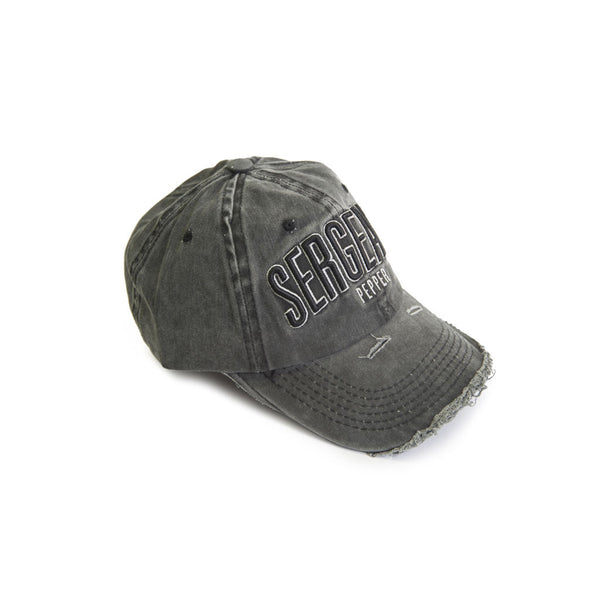 SPCC | Baseball cap | Embroidered logo | Black | Rip and repair