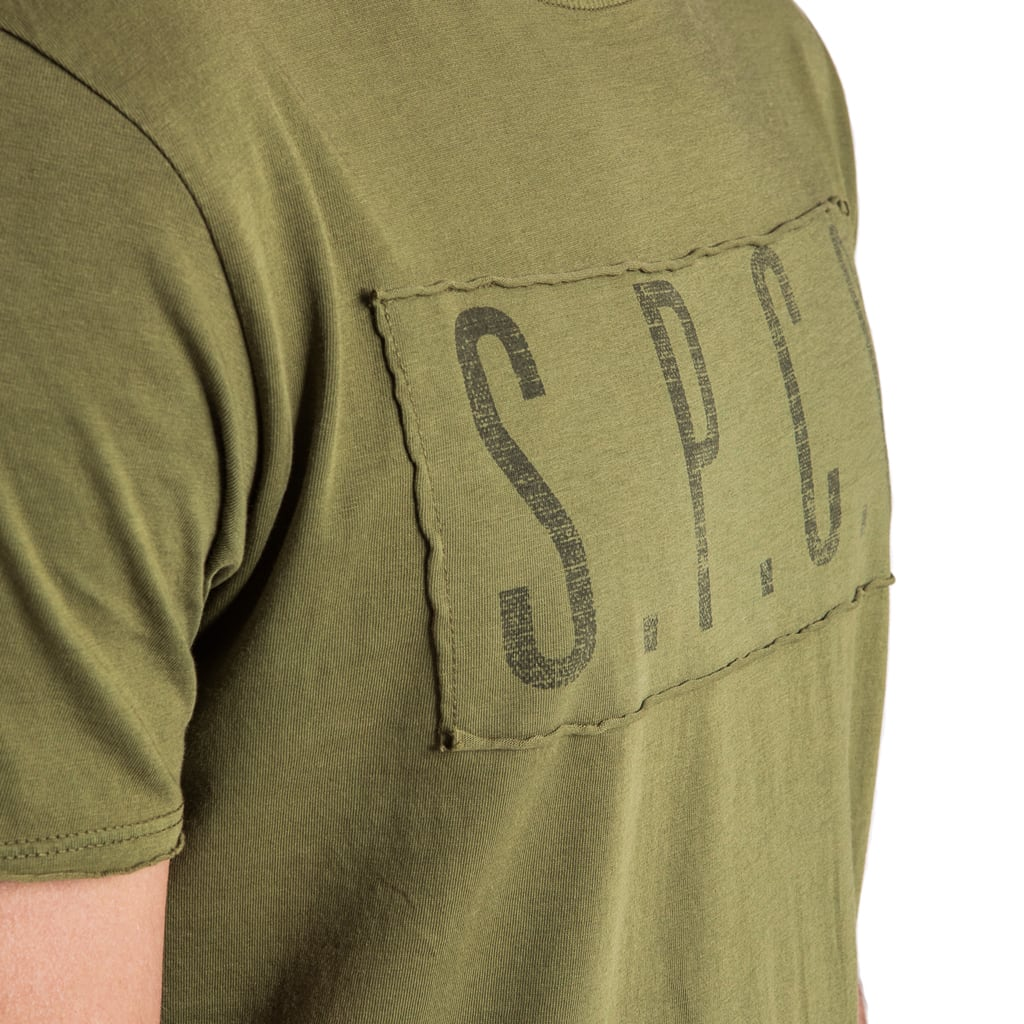 Shop SPCC Raw Edge Military Tee - Olive for R 399.95 | T-Shirts | 20P, CM2018, February 18, Green, Men, New In-W18, T-Shirts, tshirt, tshirts, W40P | S.P.C.C | Sergeant Pepper Clothing Co