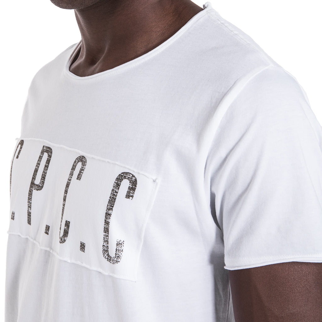 Shop SPCC Raw Edge Military Tee - White for R 399.95 | T-Shirts | A/W 18, May 18, Men, New In-W18, T-Shirts | S.P.C.C | Sergeant Pepper Clothing Co