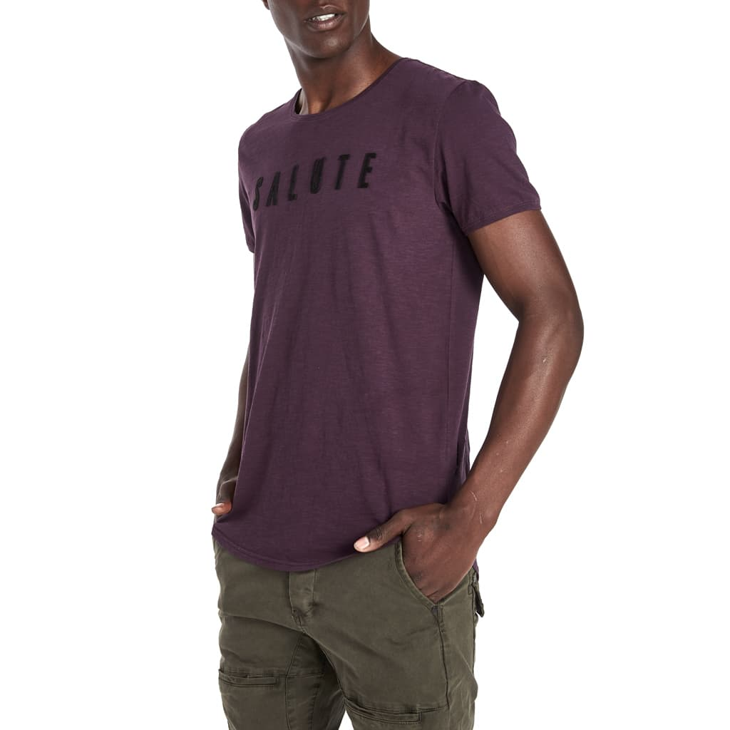 Shop Salute T-Shirt for R 399.95 | T-Shirts | Brown, Men, New In - S18, October 18, Pink, Plum, Sale-S18, September 18, T-Shirts, Tees, Tobacco, Tops | S.P.C.C | Sergeant Pepper Clothing Co