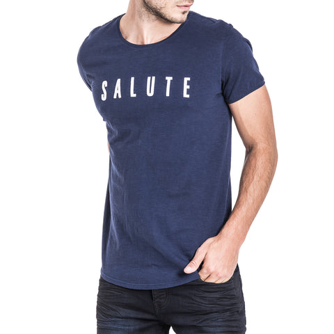 Shop Salute T-Shirt - Navy for R 399.95 | T-Shirts | A/W 18, May 18, Men, New In-W18, T-Shirts | S.P.C.C | Sergeant Pepper Clothing Co