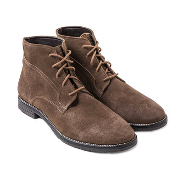 Bronson Lace Up Ankle Boots - Mocha
