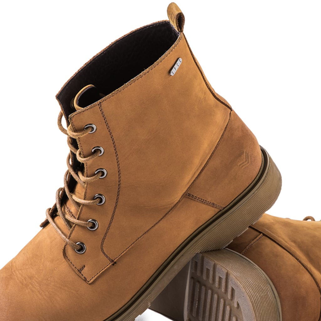 Shop Knox Leather Boots - Tan for R 1799.95 | Footwear | A/W 18, Boots, Brown, Footwear, March 18, Men, New In-W18, Tan | S.P.C.C | Sergeant Pepper Clothing Co