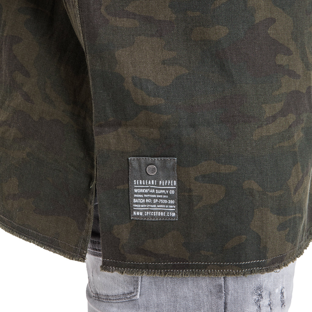 Maverick Utility Shacket - Olive Camo