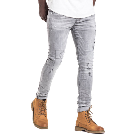 Shop Iceman Slim Fit Jeans - Grey for R 1199.95 | Denim | A/W 18, Denim, Feather, Jeans, May 18, Men, New In-W18 | S.P.C.C | Sergeant Pepper Clothing Co
