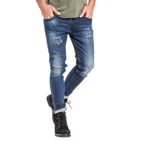 Shop Glacier Slim Fit Jeans - Mid Blue for R 1199.95 | Denim | A/W 18, Denim, Feather, Jeans, May 18, Men, New In-W18 | S.P.C.C | Sergeant Pepper Clothing Co