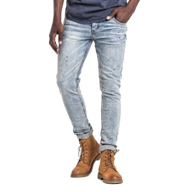Shop Feather Slimfit Jeans - Bleach for R 1199.95 | Denim | A/W 18, April 18, Blue, Denim, Feather, Jeans, Men, New In-W18 | S.P.C.C | Sergeant Pepper Clothing Co