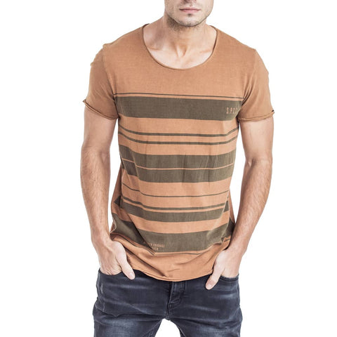 Shop Innes T-Shirt for R 399.95 | T-Shirts | August 18, Brown, Men, New In - S18, October 18, Sale-S18, T-Shirts, Tabacco, Tees, Tobacco, Tops, White | S.P.C.C | Sergeant Pepper Clothing Co