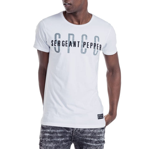 Shop Twist T-Shirt for R 399.95 | T-Shirts | August 18, July 18, Men, New In - S18, November 18, October 18, Sale-S18, T-Shirts, White | S.P.C.C | Sergeant Pepper Clothing Co