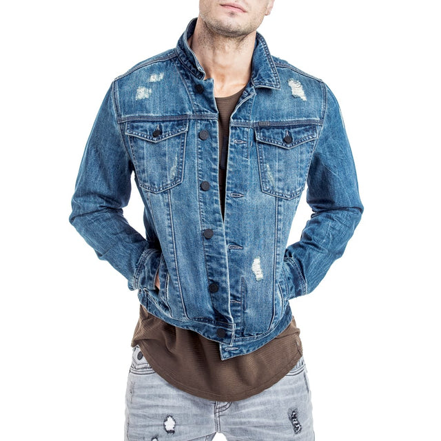 Shop Saunder Denim Jacket for R 1399.95 | Jackets | August 18, Blue, Denim, Jackets, Men, New In - S18, Outerwear, Sale-S18 | S.P.C.C | Sergeant Pepper Clothing Co