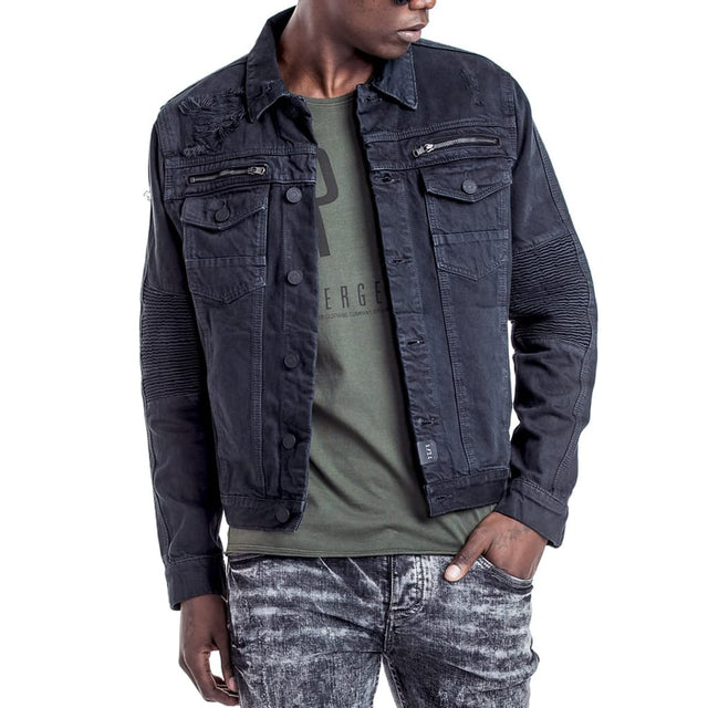 Shop Prospect Denim Jacket for R 1599.95 | Jackets | Black, Denim, Jackets, July 18, Men, New In - S18, Outerwear, Sale-S18 | S.P.C.C | Sergeant Pepper Clothing Co