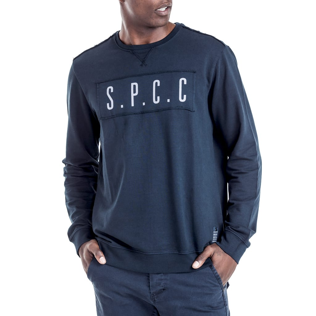 Shop Bedford Sweatshirt for R 699.95 | Outerwear | August 18, Blue, Grey, Men, New In - S18, Outerwear, Pullover, Sale-S18, sweater, Sweats, sweatshirt, Tops | S.P.C.C | Sergeant Pepper Clothing Co