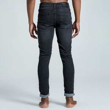 Ebony Crosshatch Jeans - Black