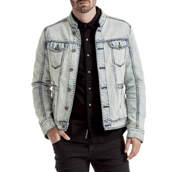 Mens-Jacket-Denim-Bleach-Blue-Front-View
