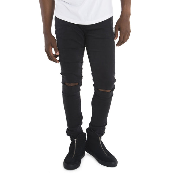 Sergeant Pepper Skinny Jeans | Denim | Black | Tear Detail | SPCC