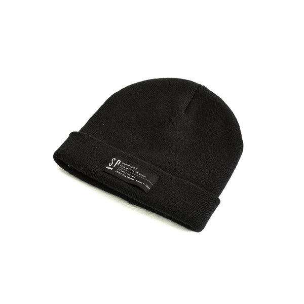 SPCC | Beanie | Acrylic yarn | Canvas label | Black