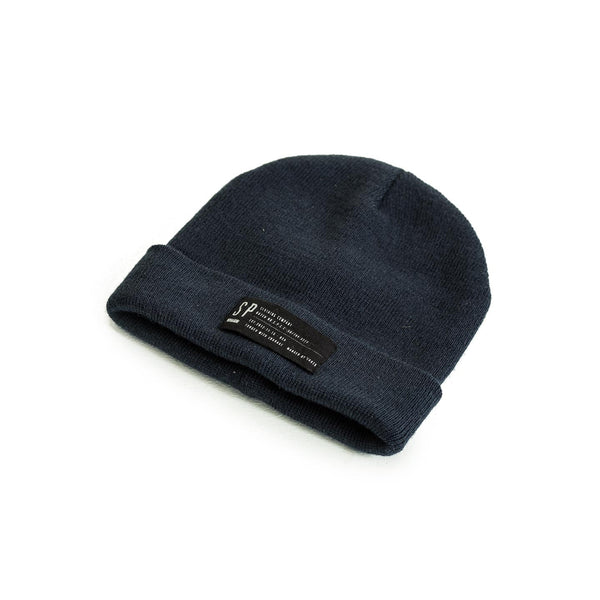 SPCC | Beanie | Acrylic yarn | Canvas label | Navy