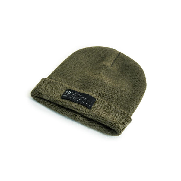 SPCC | Beanie | Acrylic yarn | Canvas label | Olive