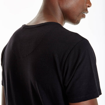 SGT1401 - Nam Tee - Black - Detailed Back View