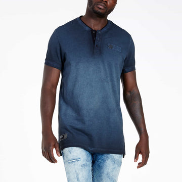 SGT1501 - The Illusion Henley Tee - Ink - Hero View