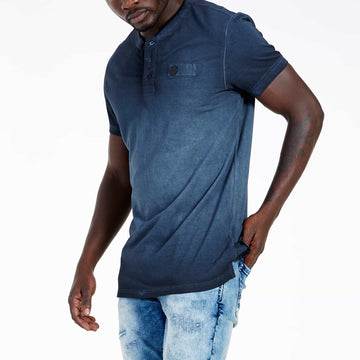 SGT1501 - The Illusion Henley Tee - Ink - Side View