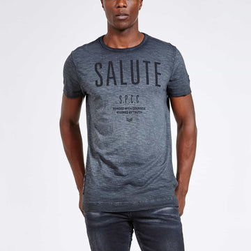 SGT1510 - The Jono Tee - Ink - Front View