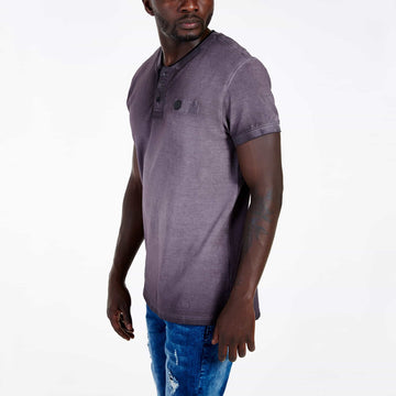 SGT1501 - The Illusion Henley Tee - Wine - Side View
