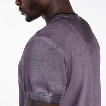 SGT1501 - The Illusion Henley Tee - Wine - Detailed Sleeve