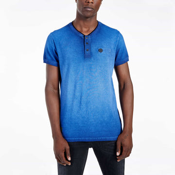 SGT1501 - The Illusion Henley Tee - Sodalite Blue - Hero View
