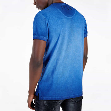 SGT1501 - The Illusion Henley Tee - Sodalite Blue - Back View