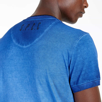 SGT1501 - The Illusion Henley Tee - Sodalite Blue - Detailed Back Print