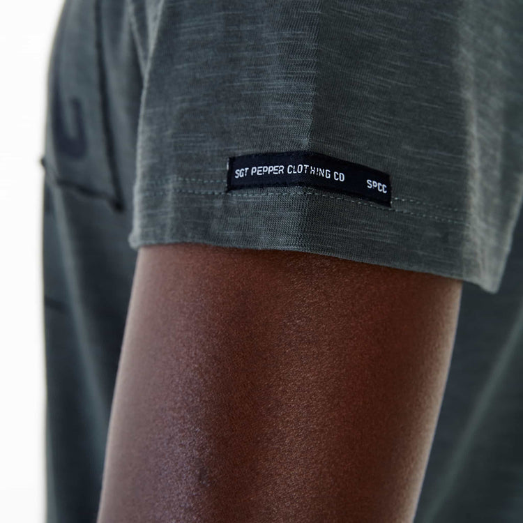 SGT1504C - The Haven Tee - Light Fatigue - Detailed Sleeve Tag