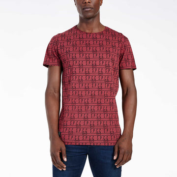 SGT-1505 - The Mono Tee - Burnt Red - Front View