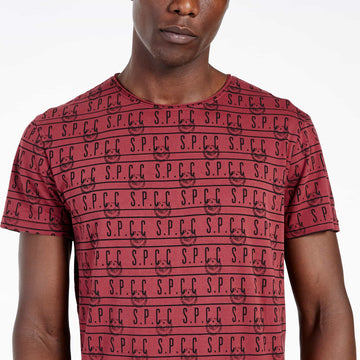 SGT-1505 - The Mono Tee - Burnt Red - Detailed Front View
