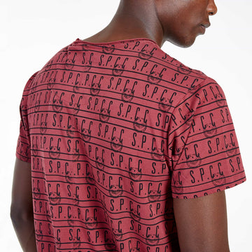 SGT-1505 - The Mono Tee - Burnt Red - Detailed Back View