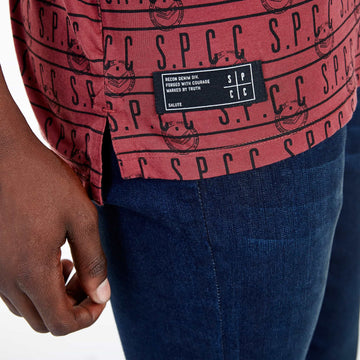 SGT-1505 - The Mono Tee - Burnt Red - Detailed Hem Label