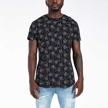SGT1507A - The Pollock Tee - Black - Front View