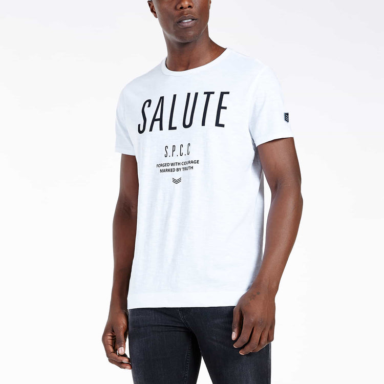 SGT-1510 - The Jono Tee - Optic White - Front View