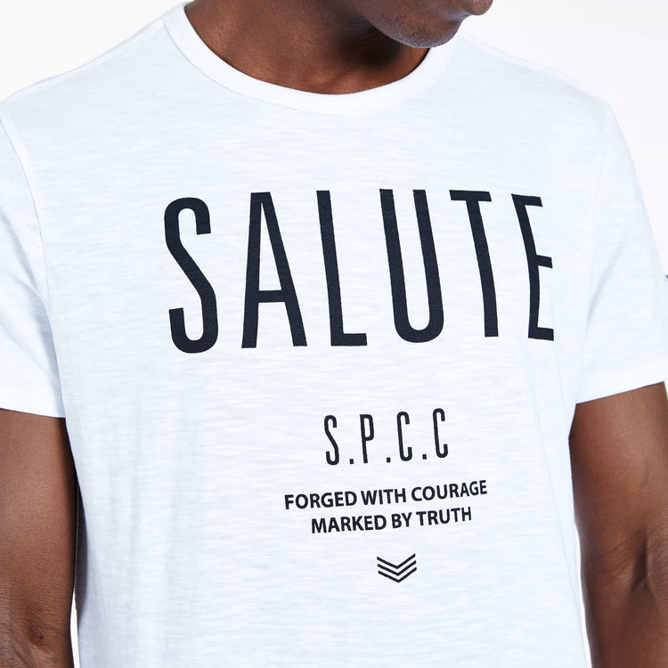 SGT-1510 - The Jono Tee - Optic White - Detailed Front View