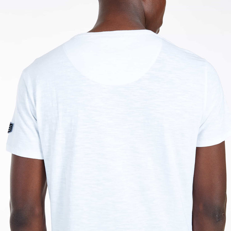 SGT-1510 - The Jono Tee - Optic White - Detailed Back View