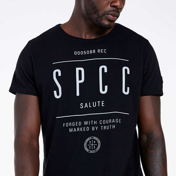 SGT1512 - The Getty Tee - Black - Detailed Front View