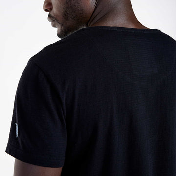 SGT1512 - The Getty Tee - Black - Detailed Back View