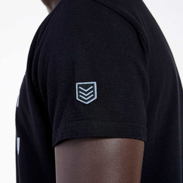 SGT1512 - The Getty Tee - Black - Detailed Sleeve Badge