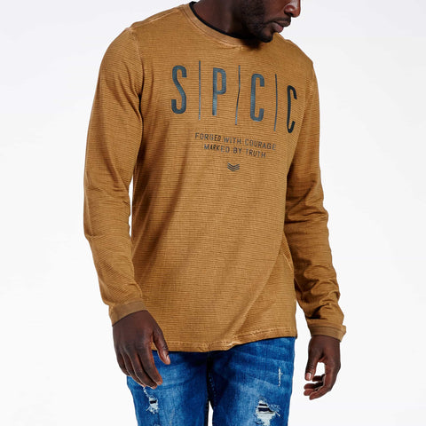 SGT1515B - The DMZ Long sleeve Tee - Spice -  Front View