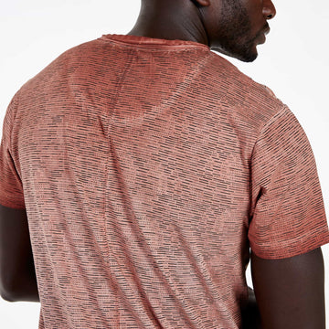 SGT1518 - The Saigon Tee - Rust - Detailed Back View