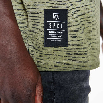 SGT1518A - The Saigon Tee - Fatigue - Detailed Hem Label