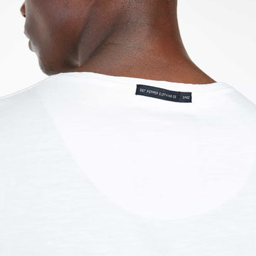 SGT-1521A - The Falcon Tee - Off White - Detailed Back Tag