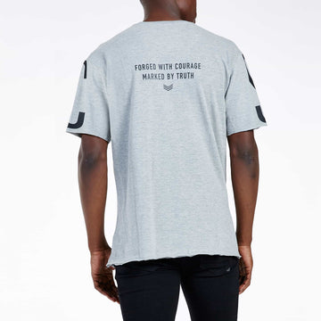 SGT1522A - The Mega Tee - Grey Melange - Back View