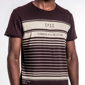 SGT1523 - Horizon Tee - Wine - Detailed Front View